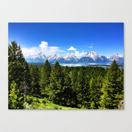 The Tetons from Signal Mountain Canvas Print