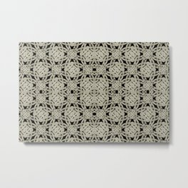 Interlace Arabesque Pattern Metal Print