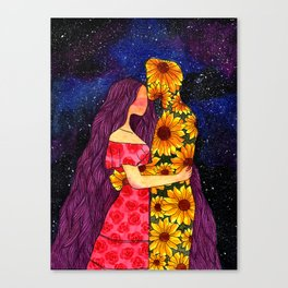 love from the galaxy Canvas Print