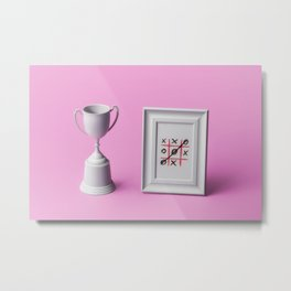 Champion of noughts and crosses Metal Print