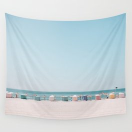 Beach Huts Wall Tapestry