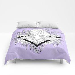 Elf Lady // Black & White Comforters