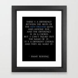 Jimmy Rushing Framed Art Print