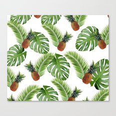 Tropical Pineapples Canvas Print