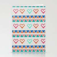 knit Stationery Cards featuring Heart Knit  by minniemorrisart