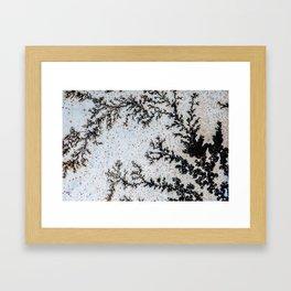 Moss Agate Sakura blossom Framed Art Print