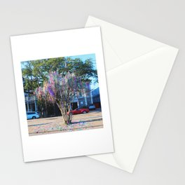 Mardi Gras Tree Stationery Cards