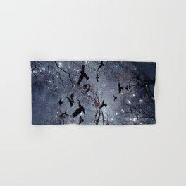 Woodland Crows And Bursting Stars Hand & Bath Towel