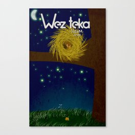 """Landed"" - Wezteka Union. Canvas Print"