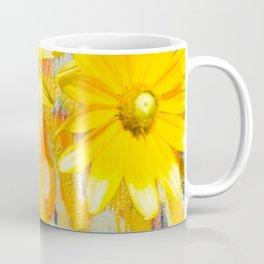 Graffiti Art and Yellow Flowers Coffee Mug