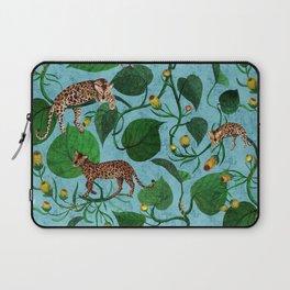 Lazy Leopard Jungle Laptop Sleeve