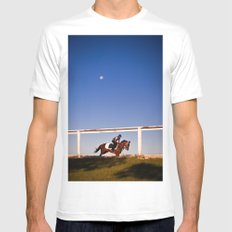 A rider and a horse MEDIUM White Mens Fitted Tee