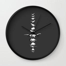 The Dinosaur lineup Monochrome Wall Clock