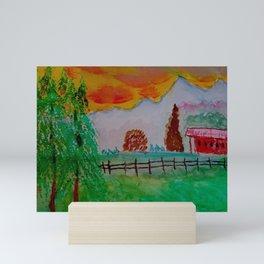 Mountain Farm Mini Art Print