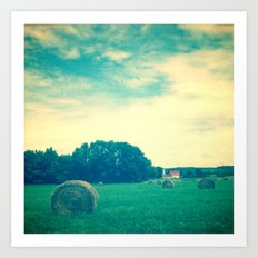 Summer Hay Field Art Print