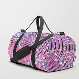 Surfing the Waves in Outer Space Duffle Bag
