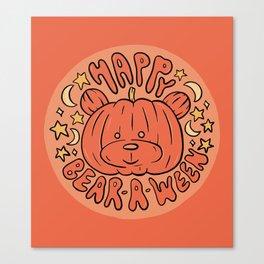Happy Bear-A-Ween Canvas Print