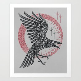 RAGNAR'S RAVEN Art Print