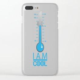 i am cool Clear iPhone Case