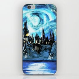 Starry night in H magic castle - part 2 iPhone Skin