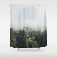 Foggy Treetops Shower Curtain