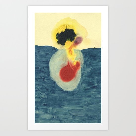 Night Swim Art Print