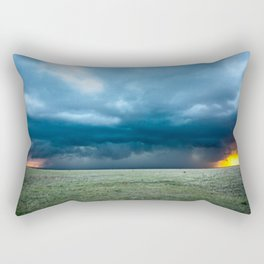 Regeneration - Storm Strengthens With Amazing Color in Texas Rectangular Pillow