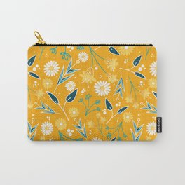 Flowers & Leaves Carry-All Pouch
