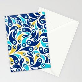 Nazar Amulet Paisley pattern #4 Stationery Cards