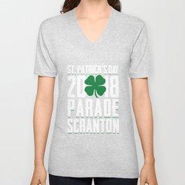 St. Patricks Day 2018 Parade Scranton Green Shamrock Unisex V-Neck