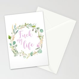 Fuck My Life Stationery Cards