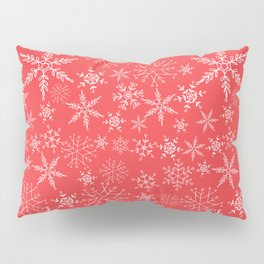 red and white snowflakes Pillow Sham