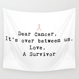 Dear Cancer (Black Type) Wall Tapestry