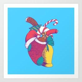 Christmas Heart Art Print