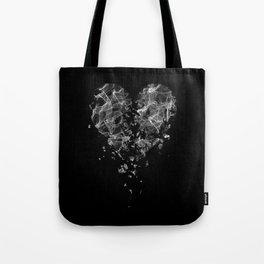 smoke broken heart Tote Bag