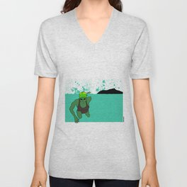 Swimmer at Diamond Head Unisex V-Neck