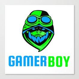 Gamer Boy Player Boy Toxic Gas Mask Canvas Print