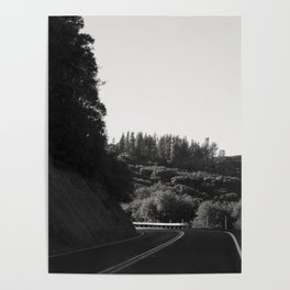 Wine Country Mountain Driving Poster