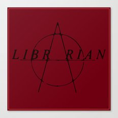 Anarchist Librarian Canvas Print