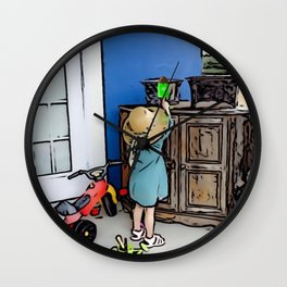 Little Girl Fun Day Wall Clock