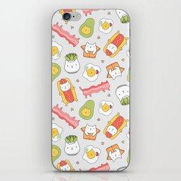 Cat food and succulent iPhone Skin