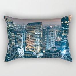 Bangkok City Night Rectangular Pillow