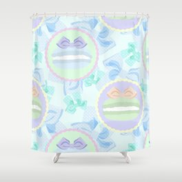 Grande Macarons & Bows Shower Curtain