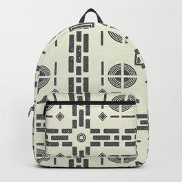 Mediterranean Pattern 9 - Tile Pattern Designs - Geometric - Grey - Ceramic Tile - Surface Pattern Backpack