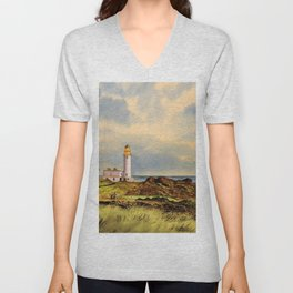 Turnberry Golf Course Scotland 9th Tee Unisex V-Neck