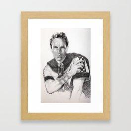 Charlton heston ben hur Framed Art Print