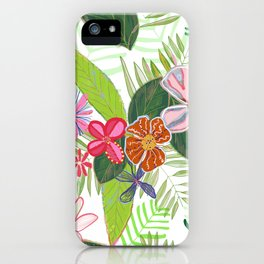 Vivid Color Tropical Summer Pattern iPhone Case