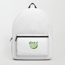 Funny Lime Suck It Cinco De Mayo Citrus Sour Lime Backpack