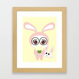 Chibi selfie Framed Art Print