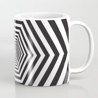 hexagon Mugs featuring Hexagon by Vadeco